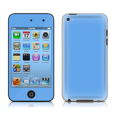iPod Touch 4G Skin - Solid State Blue