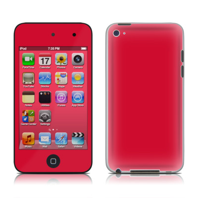 iPod Touch 4G Skin - Solid State Red