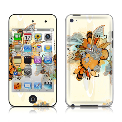 iPod Touch 4G Skin - Sunset Flowers