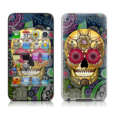 iPod Touch 4G Skin - Sugar Skull Paisley