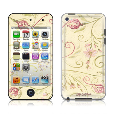 iPod Touch 4G Skin - Tulip Scroll
