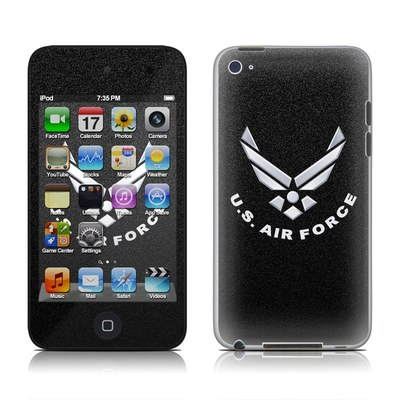 iPod Touch 4G Skin - USAF Black