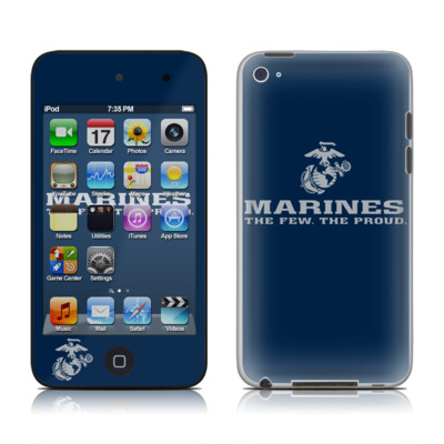 iPod Touch 4G Skin - USMC Blue