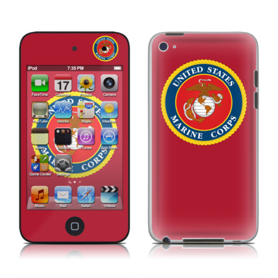iPod Touch 4G Skin - USMC Red