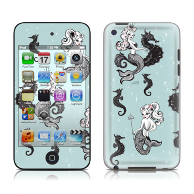 iPod Touch 4G Skin - Vintage Mermaid