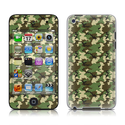 iPod Touch 4G Skin - Woodland Camo