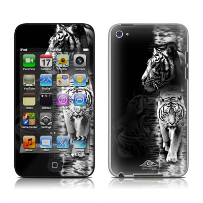 iPod Touch 4G Skin - White Tiger