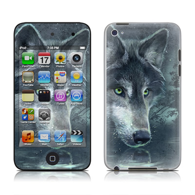 iPod Touch 4G Skin - Wolf Reflection