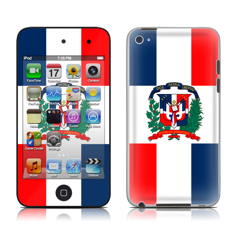 Ipod Touch 4g Skin Dominican Republic Flag By Flags Decalgirl