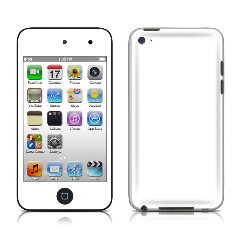 Ipod Touch 4g Skin Solid State White By Solid Colors