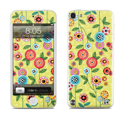 iPod Touch 5G Skin - Button Flowers