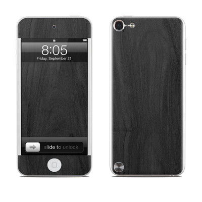 iPod Touch 5G Skin - Black Woodgrain