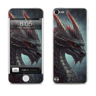 iPod Touch 5G Skin - Black Dragon