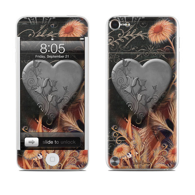 iPod Touch 5G Skin - Black Lace Flower