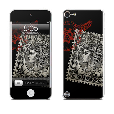 iPod Touch 5G Skin - Black Penny