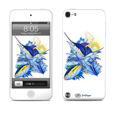 iPod Touch 5G Skin - Blue White and Yellow