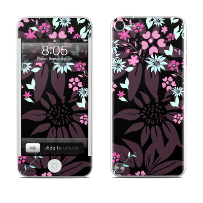 iPod Touch 5G Skin - Dark Flowers