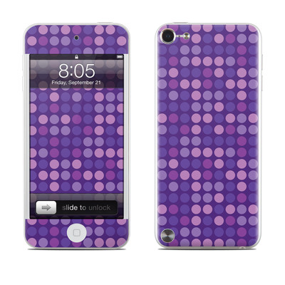 iPod Touch 5G Skin - Dots Purple
