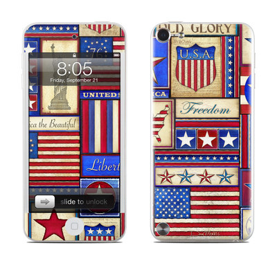 iPod Touch 5G Skin - Flag Patchwork