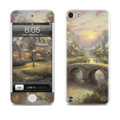 iPod Touch 5G Skin - Sunset On Lamplight Lane