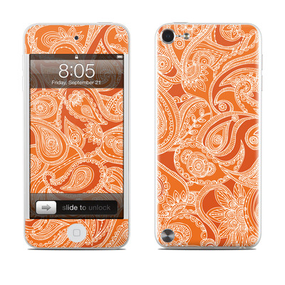 iPod Touch 5G Skin - Paisley In Orange