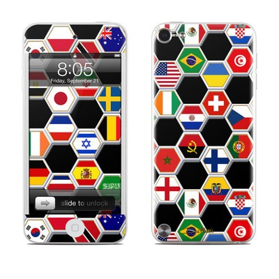 iPod Touch 5G Skin - Soccer Flags