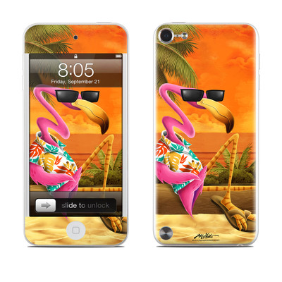 iPod Touch 5G Skin - Sunset Flamingo