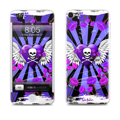 iPod Touch 5G Skin - Skull & Roses Purple