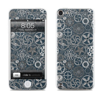 iPod Touch 5G Skin - Silver Gears