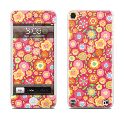 iPod Touch 5G Skin - Flowers Squished