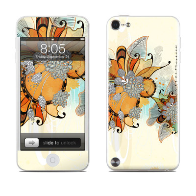 iPod Touch 5G Skin - Sunset Flowers