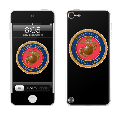 iPod Touch 5G Skin - USMC Black