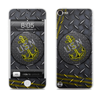 iPod Touch 5G Skin - USN Diamond Plate