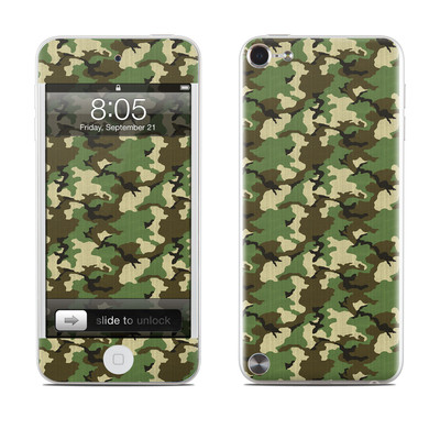 iPod Touch 5G Skin - Woodland Camo