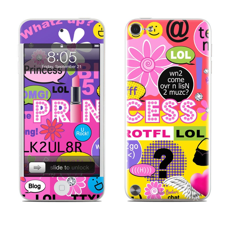 IPod Touch 5G Skin Princess Text Me