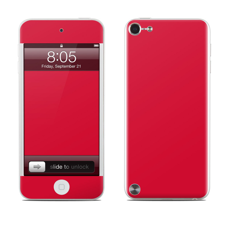 Ipod Touch 5g Skin Solid State Red By Decalgirl