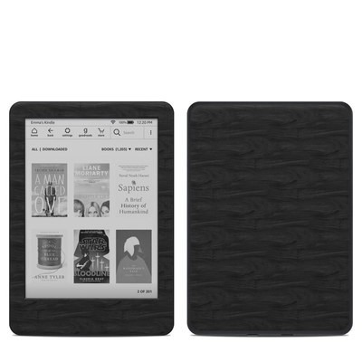 Amazon Kindle 10th Gen Skin - Black Woodgrain