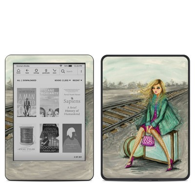 Amazon Kindle 10th Gen Skin - Lulu Waiting by the Train Tracks
