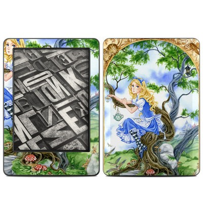 Amazon Kindle 2014 Skin - Alice's Tea Time