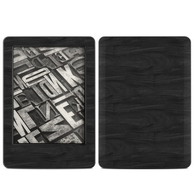 Amazon Kindle 2014 Skin - Black Woodgrain