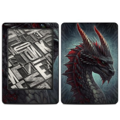 Amazon Kindle 2014 Skin - Black Dragon