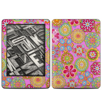Amazon Kindle 2014 Skin - Bright Flowers