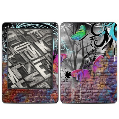 Amazon Kindle 2014 Skin - Butterfly Wall