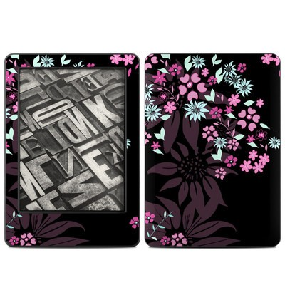 Amazon Kindle 2014 Skin - Dark Flowers