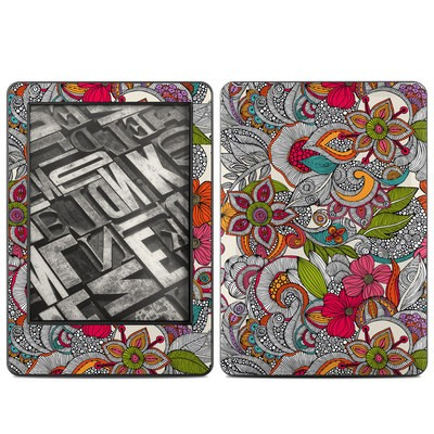 Amazon Kindle 2014 Skin - Doodles Color