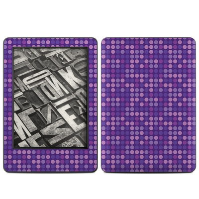Amazon Kindle 2014 Skin - Dots Purple