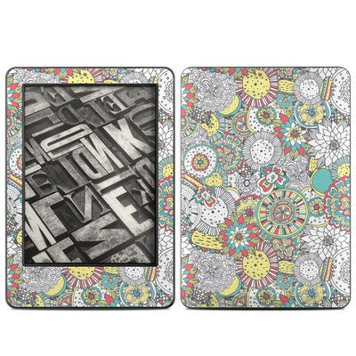 Amazon Kindle 2014 Skin - Faded Floral