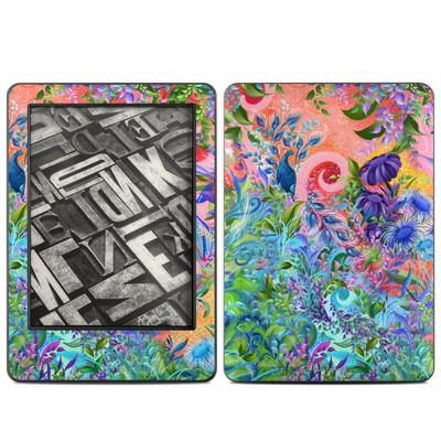 Amazon Kindle 2014 Skin - Fantasy Garden