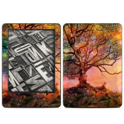Amazon Kindle 2014 Skin - Fox Sunset