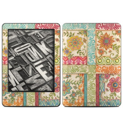 Amazon Kindle 2014 Skin - Ikat Floral
